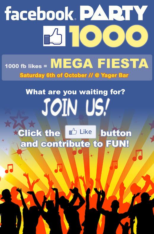 1000 Facebook Party