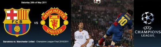 Barça vs. Manchester United Final Champions 2011 en Londres