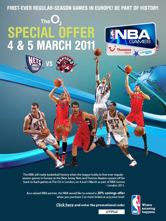 NBA London, Nets vs Raptors