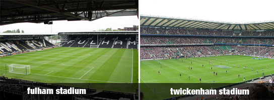 fulham and twickenham stadiums