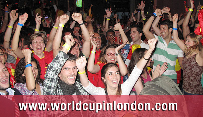 Partidos España World Cup in London